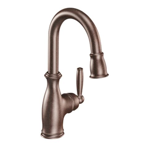 Moen Brantford Kitchen Faucets by Moen 5985orb Brantford One Handle High Arc Pulldown Bar