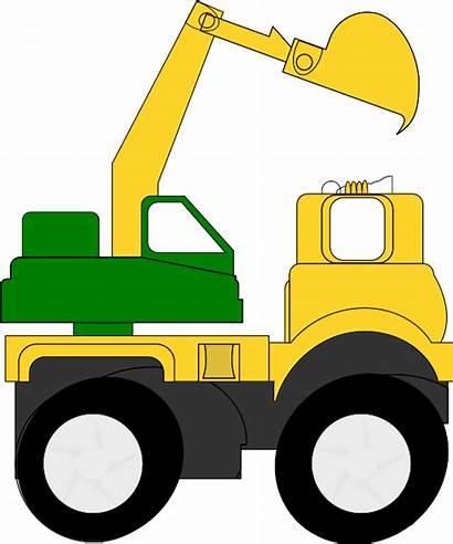 Clip Clipart Digger Excavator Construction Equipment Cartoon