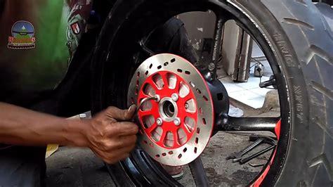 Modif Mx Cakram Belakang by Cara Pasang Cakram Belakang Upgrade Byson Motovlog