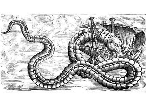 coloring page sea dragon attacks ship img  images