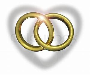 golden wedding rings linked together stock photo colourbox With wedding rings together
