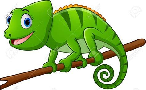 Top View Of A Brown Lizard Cartoon Clipart