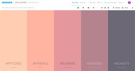 Color Schemes by Generate Color Scheme Pattern On Coolors Pattern