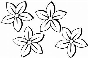 Simple Flower Outline - Coloring Home