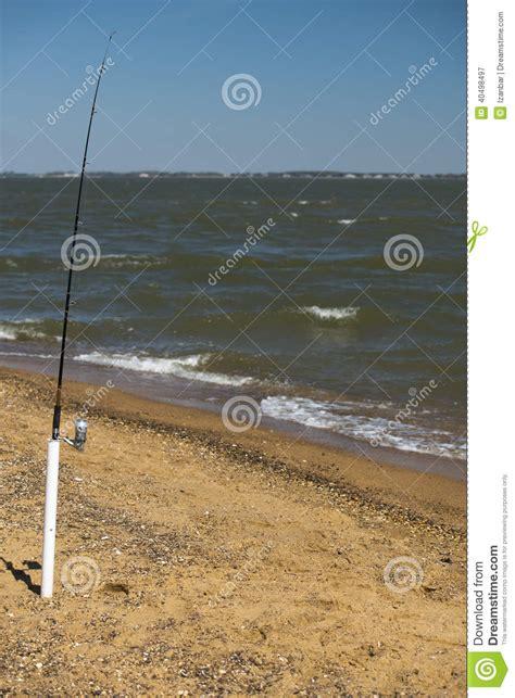 pole fishing beach