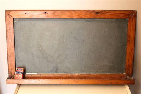 Vintage Slate School Chalkboard With Tray