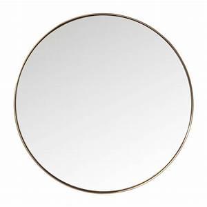 Miroir Rond Cuivre : miroir curve rond cuivre 100cm kare design ~ Edinachiropracticcenter.com Idées de Décoration