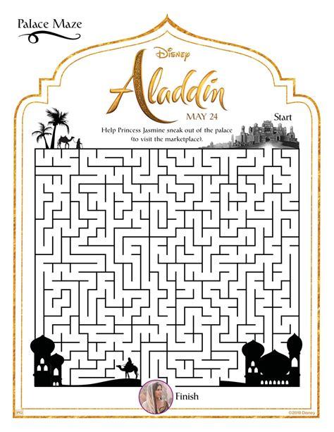 aladdin  coloring sheets  print  home  disney