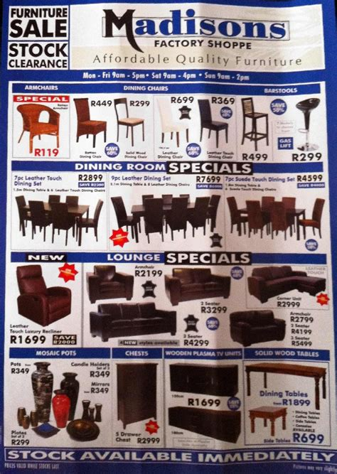 madisons factory shop affordable quality furniture