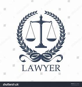 Lawyer Sign Scale Laurel Wreath Weigther Stock Vector ...
