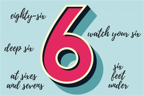 6 Phrases Using The Number 6