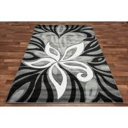 Black White and Grey Area Rug