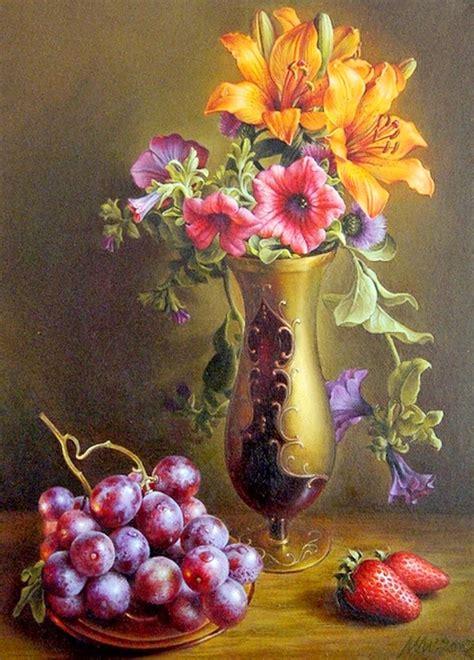 cuadros modernos pinturas y dibujos bodegones y retratos con flores ilieva bulgaria