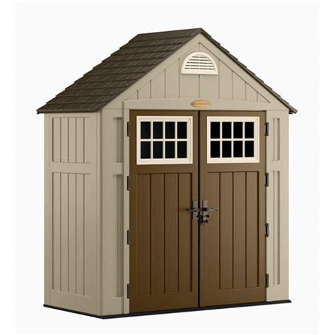 suncast storage sheds walmart suncast 7 5 x 3 5 alpine shed taupe walmart