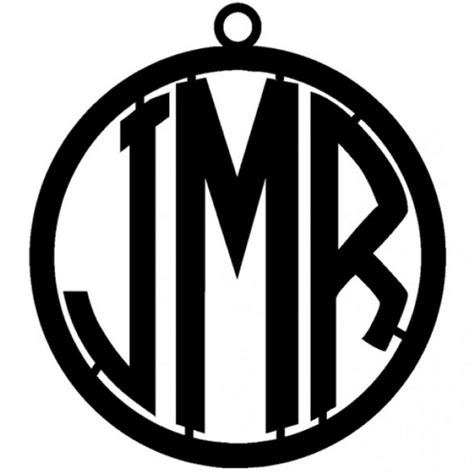 circle font metal monogram  door