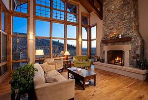 Maison En Bois Traditionnelle Dans Les Montagnes Aux Usa