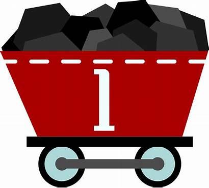 Coal Clipart Wagon Train Carbon Rail Christmas