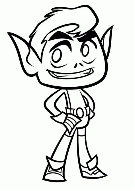 Coloring Pages For Boys by Go Coloring Pages Beast Boy Coloring 4