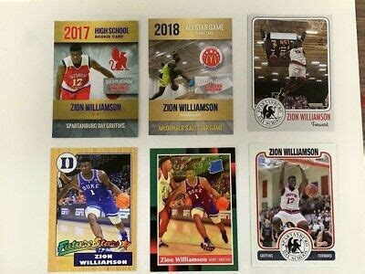There is a tremendous amount of value in some of these cards. ZION WILLIAMSON Rookie Card lot (6 Different cards) Next Huge Basketball Star | eBay