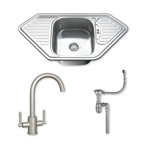 stainless steel corner sink 1 0 single corner bowl stainless steel kitchen sink tap