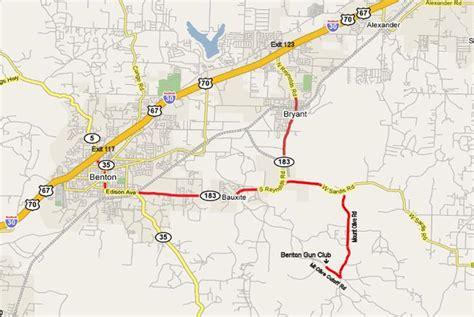 Map To Benton Gun Club Inc