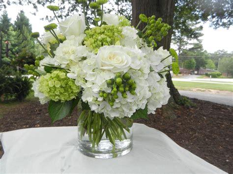 White Hydrangea Green Hydrangea White Roses Green