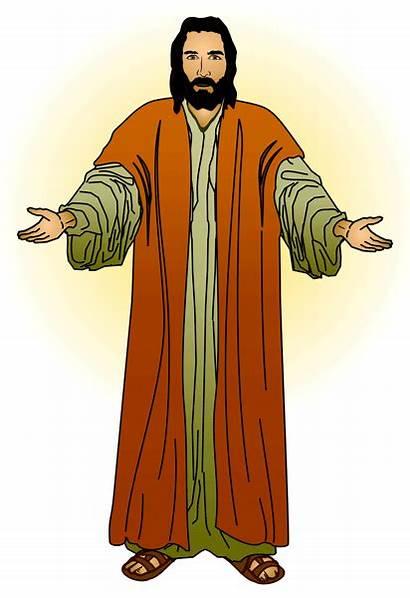 Jesus Clipart Clip Christ Arms Open Clipartcow