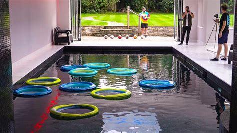 Swimming Pool Football! Youtube