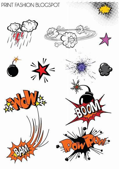Comic Pop Clip Clipart Kitsch Books Comics