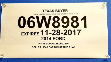 Temporary License Plates Being Sold For
