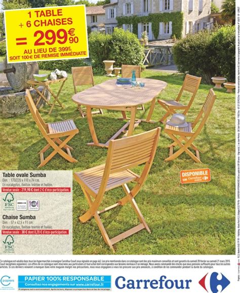Ensemble Table Et Chaise De Jardin Carrefour Phil