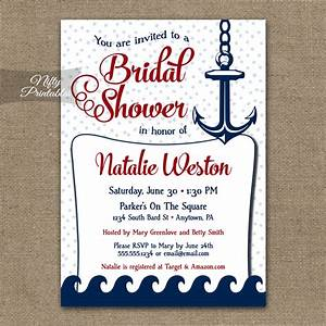 red nautical bridal shower invitation red nautical With nautical wedding shower invitations