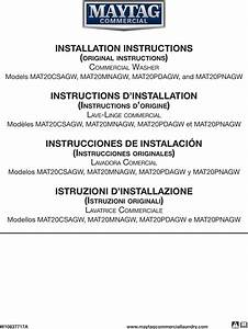 Maytag Mat20csagw0 User Manual Commercial Washer Manuals