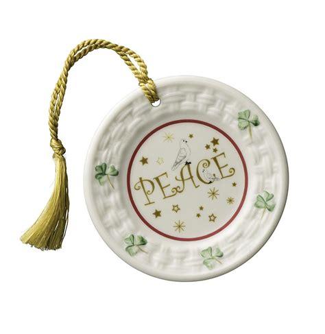 irish christmas belleek peace plate ornament at