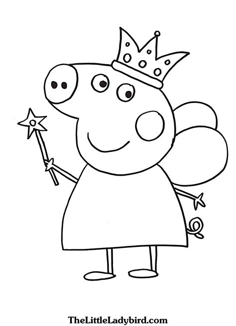 Printable Princess Peppa Pig Coloring Pages Pictures To