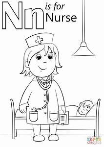 N Is For Nurse Coloring Page Free Printable Coloring Pages