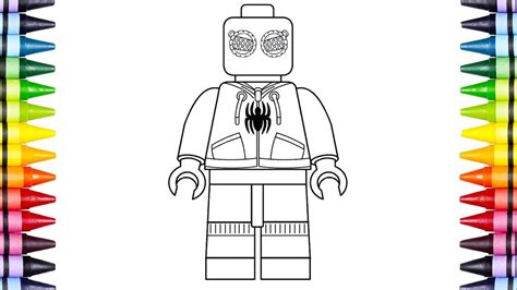 lego spiderman coloring pages projectelysiumorg