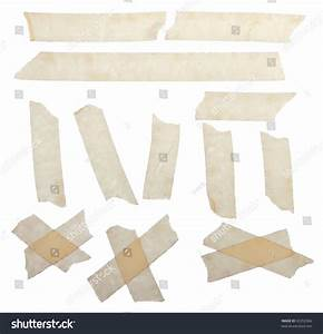 Set Scotch Tape Slices Isolated On Stock Photo 92252566 ...