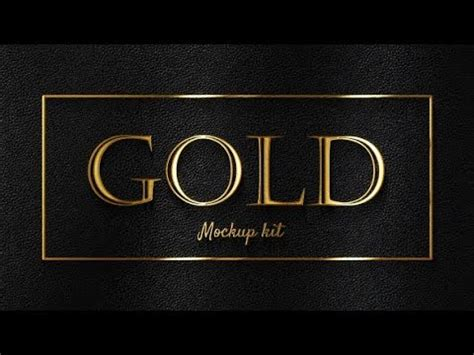Free to download and easy to personalize. Gold Mockup Kit - Glossy Logo & Titles | After Effects ...