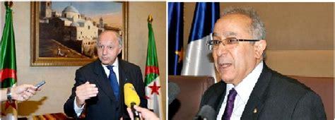 visite du ministre fran 199 ais des affaires etrangeres en algerie entretien entre lamamra et
