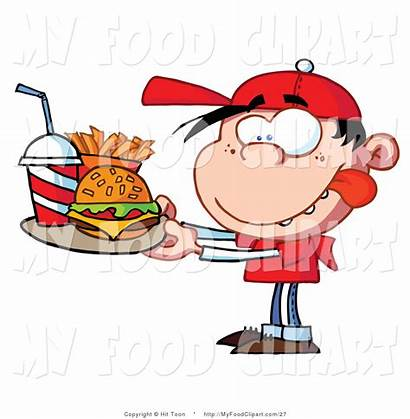 Clipart Fast Boy Clip Healthy Junk Meal