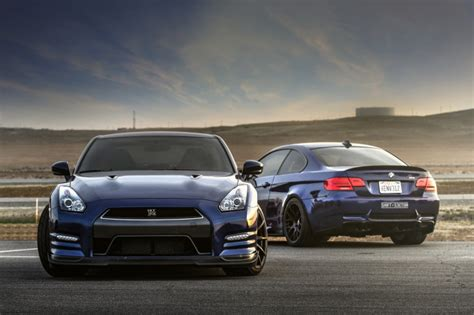 Bmw M3 Gtr Wallpaper Iphone by Nissan Gtr And Bmw M3 E92 Wallpaper For Android Iphone