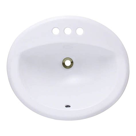 white porcelain bathroom sink polaris sinks overmount porcelain bathroom sink in white