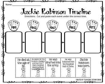 jackie robinson worksheets a step back in time black