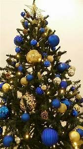 Blue, And, Gold, Christmas, Tree