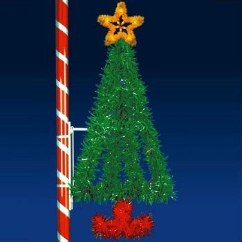 outdoor christmas decorations    vertical tree