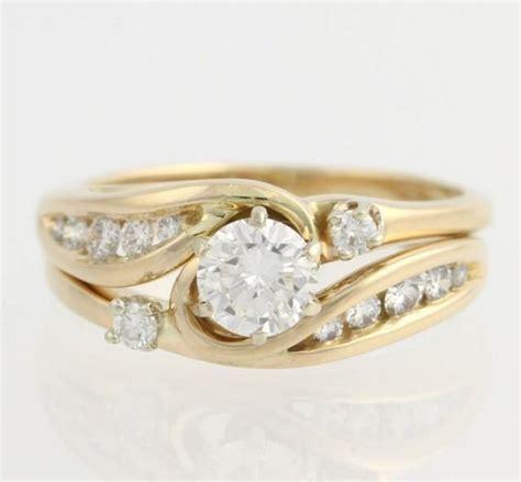 diamond engagement ring wedding band wrap set