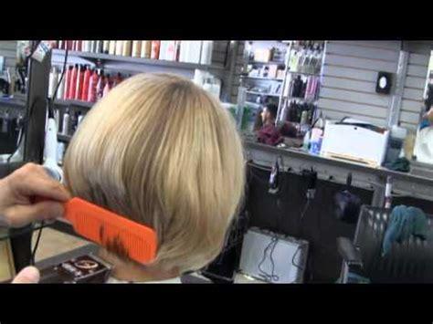 sexy blonde womens bob clipper haircut part  youtube
