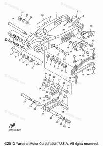Yamaha Motorcycle 2003 Oem Parts Diagram For Rear Arm