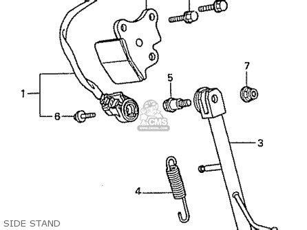 honda cb50w 50 parts list partsmanual partsfiche